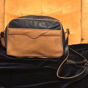 Vintage La Covina Brown/Black Leather Purse NWT